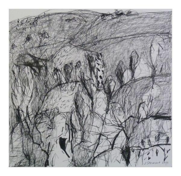 #2 charcoal on paper 22 cm x 22 cm