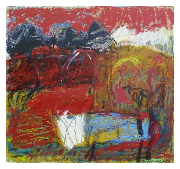 #4  - Oil pastel on paper 22 cm x 22 cm