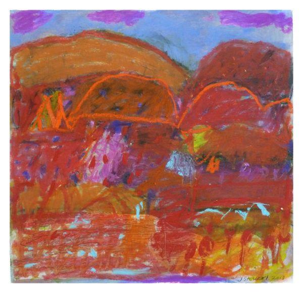 #13  - Oil pastel on paper 22 cm x 22 cm