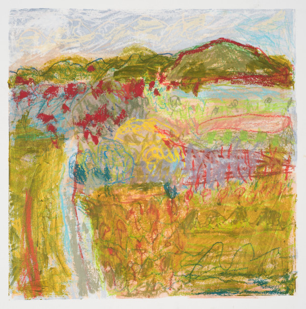 #7  - Oil pastel on paper 22 cm x 22 cm