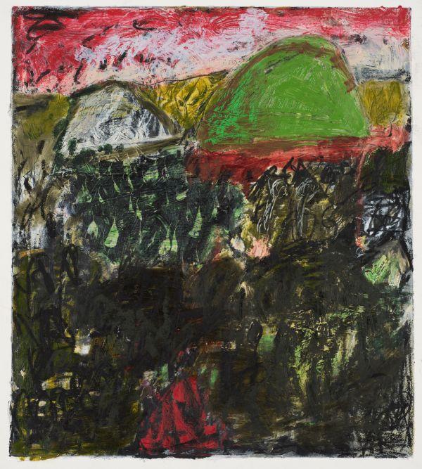 #2  - Oil pastel on paper 30 cm x 25 cm
